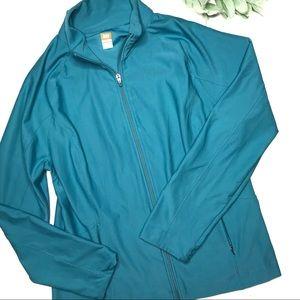 LUCY | sz XL Vital tech jacket in blue teal